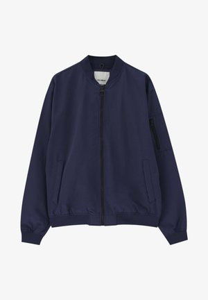 Bomber Jacket - mottled dark blue