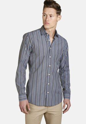SLIM FIT - Overhemd - black/blue/beige