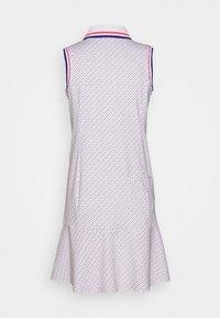 Polo Ralph Lauren Golf - PRINT SLEEVELESS CASUAL DRESS - Sports dress - white - 1