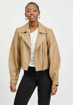 Leather jacket - tigers eye