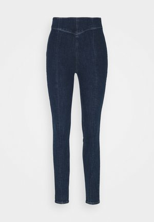 Farkkuleggingsit - blue denim