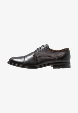 LEATHER - Veterschoenen - black