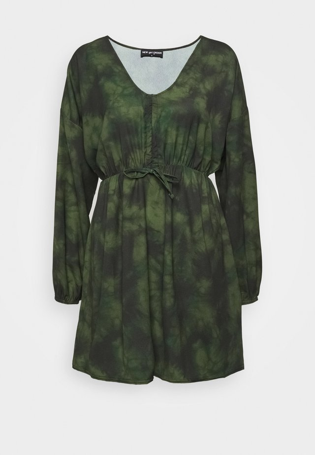 V NECK TIE DYE DRESS - Robe d'été - multi