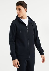 WE Fashion - Zip-up hoodie - dark blue - 0