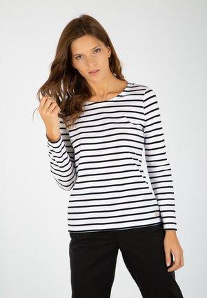 PLOZEVET MARINIÈRE - T-shirt à manches longues - blanc/rich navy