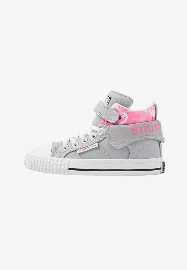 ROCO - Sneakers alte - lt grey/flamingo