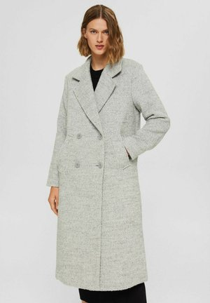 MIT RECYCELTER: ZWEIREIHIGER - Classic coat - light grey