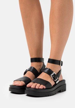 WINTER - Platform sandals - black