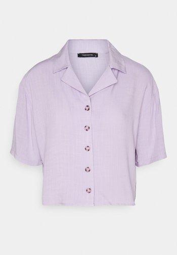 Button-down blouse - lila