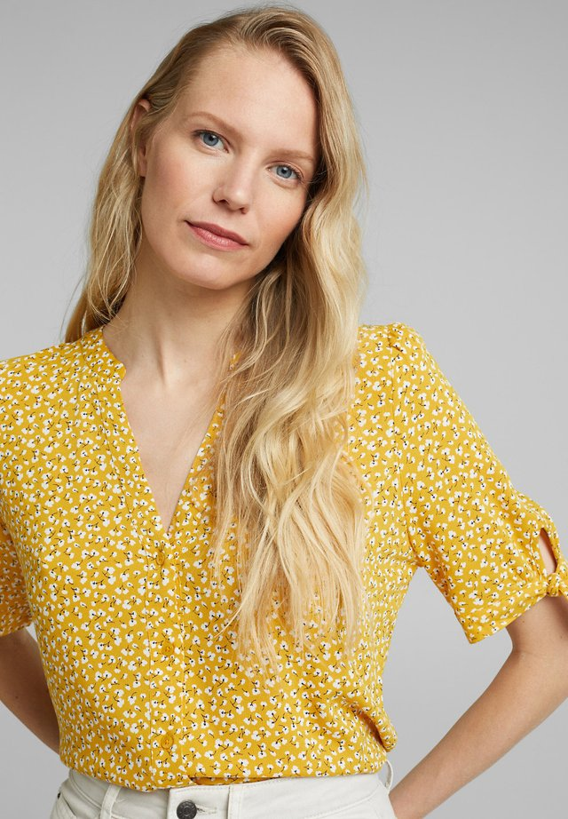 CREPE  - Blus - brass yellow