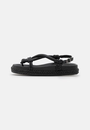ELODIE - T-bar sandals - black