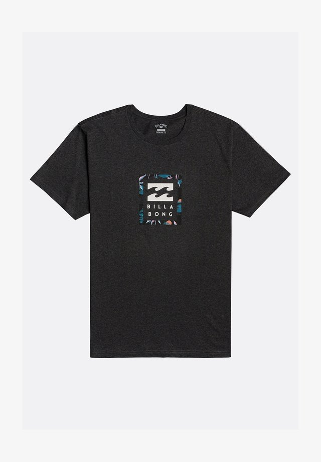UNITY STACKED - T-shirt con stampa - black heather