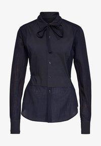 G-Star - SLIM BOW  INDIGO LONG SLEEVE - Button-down blouse - rinsed - 0