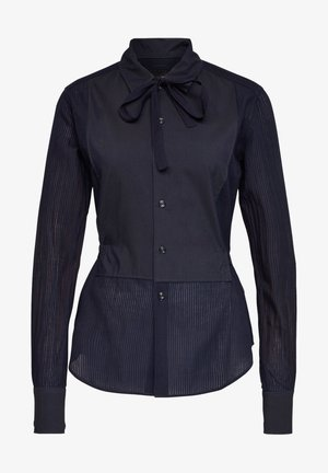 SLIM BOW  INDIGO LONG SLEEVE - Button-down blouse - rinsed