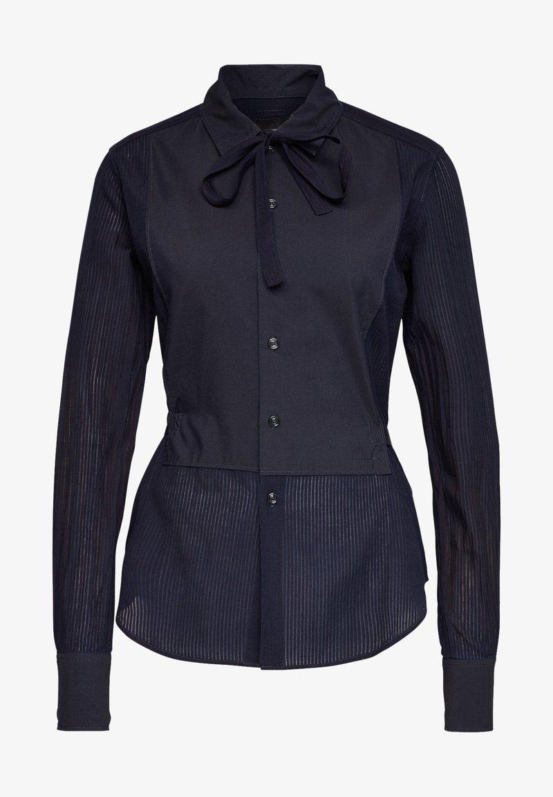 G-Star - SLIM BOW  INDIGO LONG SLEEVE - Button-down blouse - rinsed