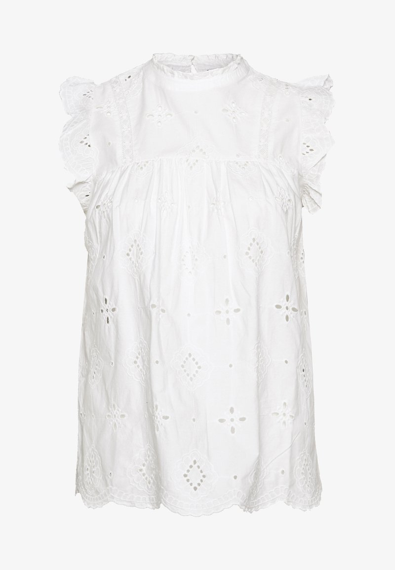 Dorothy Perkins Petite - BRODERIE SHELL - Bluse - ivory