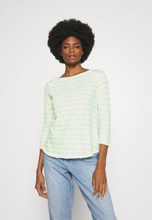 HEAVY LONGSLEEVE STRIPED - Long sleeved top - neon yellow