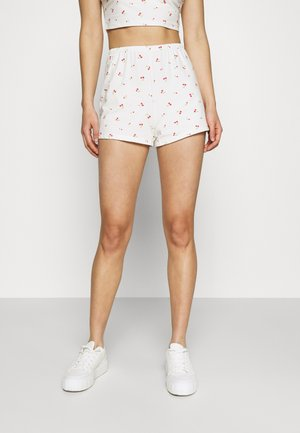 MAYA RELAXED MINI - Shorts - white cherry