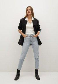 Mango - Slim fit jeans - grijs denim - 1