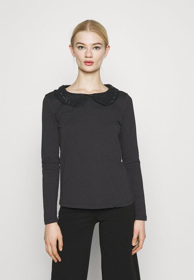 VICOLLAR - Maglietta a manica lunga - black