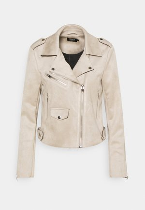ONLSHERRY BIKER - Faux leather jacket - pumice stone