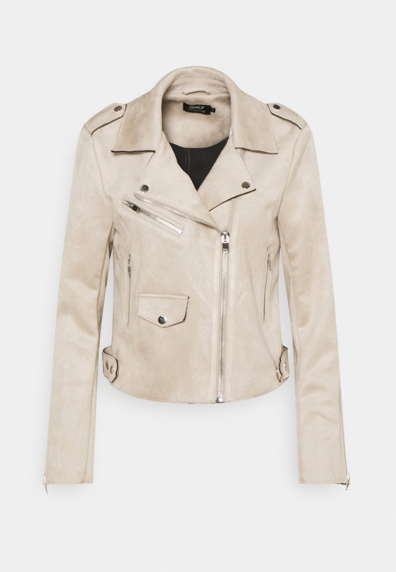 ONLY - ONLSHERRY BIKER - Faux leather jacket - pumice stone