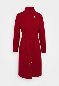 Dorothy Perkins - FUNNEL COLLAR GLOSSY COAT - Classic coat - red - 4