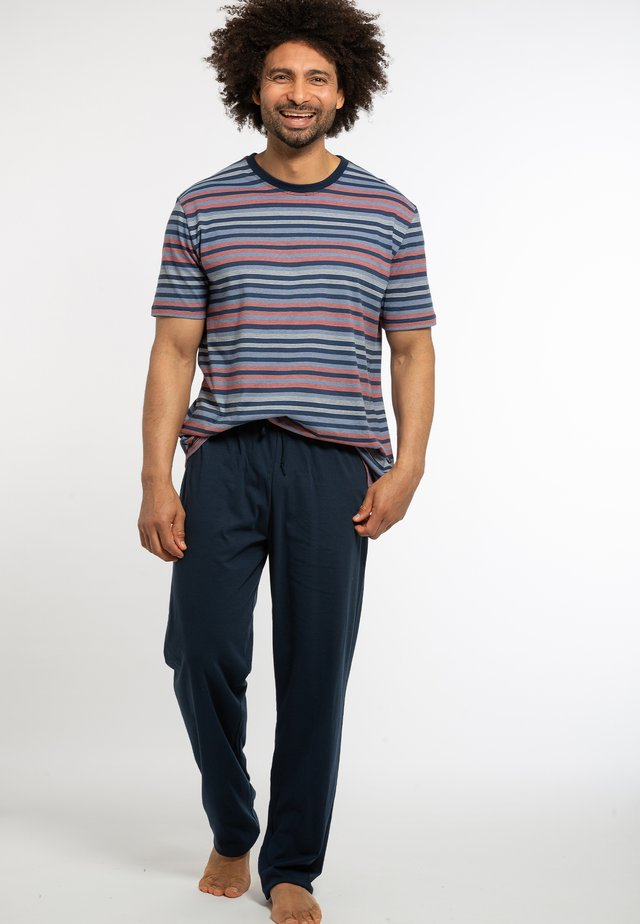 2 PACK - Pyjamas - dunkelblau / blau gestreift