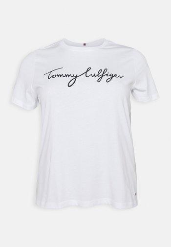 REGULAR GRAPHIC TEE - Print T-shirt - white