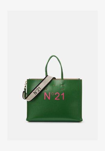 SHOPPING BAG ORIZZONTALE - Handbag - green