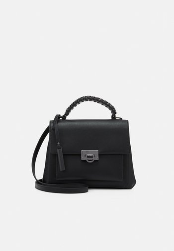 ARERRAVIA - Handbag - jet black/antique silver-coloured