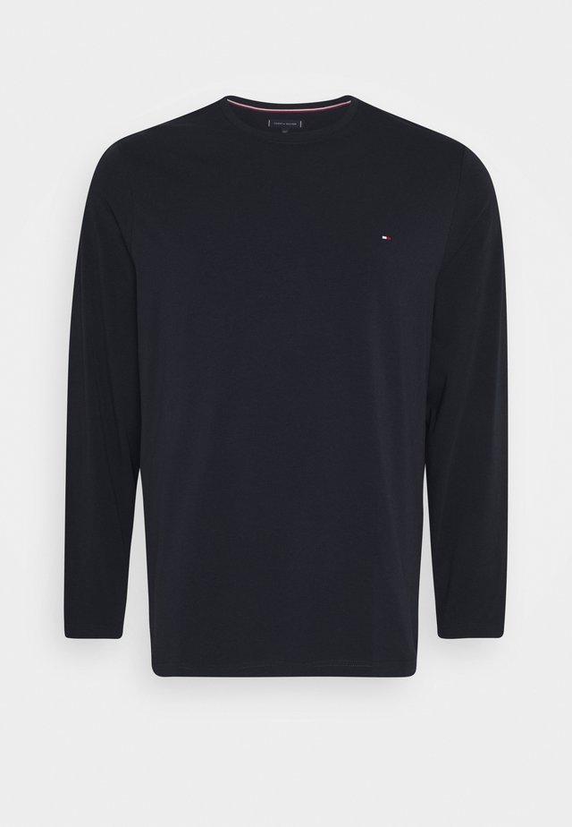 STRETCH SLIM FIT TEE - Long sleeved top - blue