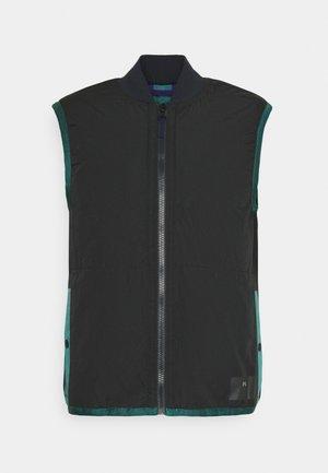 REVERSIBLEGILET - Waistcoat - black