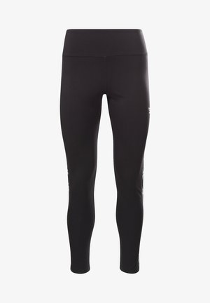 REEBOK VECTOR TAPE LEGGINGS - Tights - black