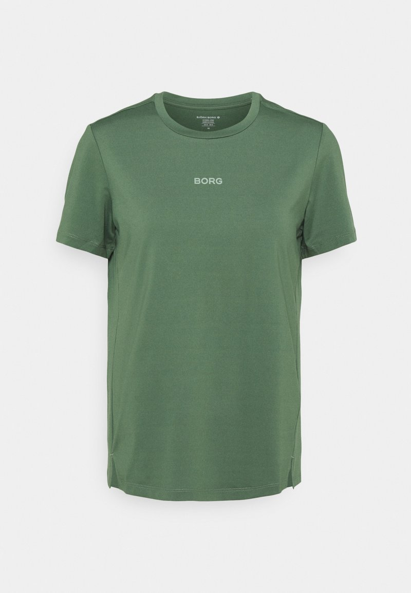Björn Borg - REGULAR TEE - T-shirts - duck green