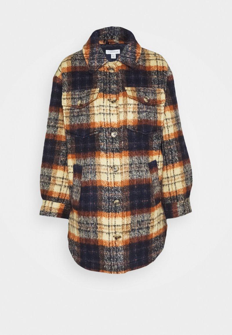 Topshop - CHECK SHACKET - Light jacket - orange