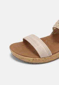 Skechers - BRIE - Platform sandals - nude sparkle - 5