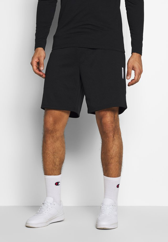 JJIZPOLYESTER SHORT - Korte broeken - black