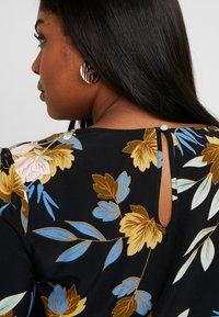 Glamorous Curve - ORIENTAL FLORAL WRAP BODYSUIT - Bluser - multi-coloured - 5