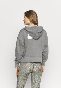 Nike Performance - DRY GET FIT  - Zip-up hoodie - carbon heather/particle grey/white - 2