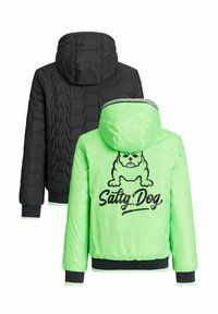 WE Fashion - ASHER REVERSIBLE  - Winter jacket - neon green, black - 3