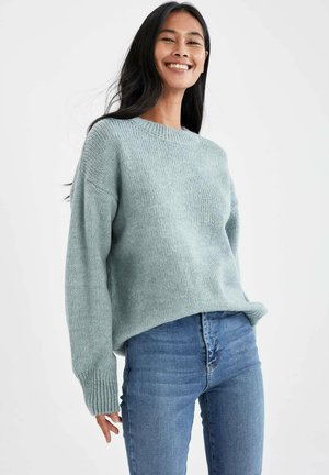 OVERSIZE FIT  - Jumper - turquoise