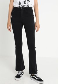 Gina Tricot - Flared jeans - black - 0