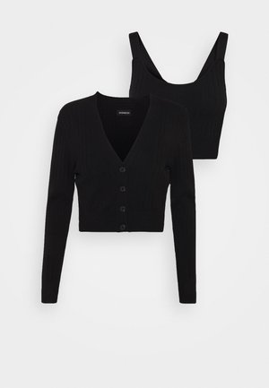 SET- CARDIGAN & TOP - Top - black