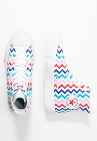 Converse - CHUCK TAYLOR ALL STAR - Baskets montantes - white/university red/peony pink - 3