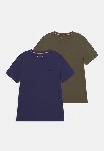TEE 2 PACK  - T-shirt basic - army green/yale navy