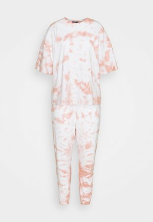 PASTEL TIE DYE SET - T-shirt print - brown