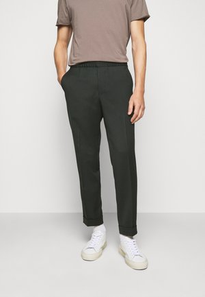 TERRY CROPPED PANTS - Trousers - dark spruc