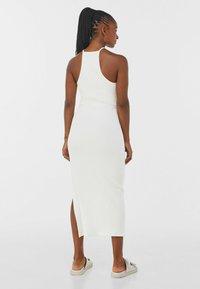 Bershka - Robe pull - white - 1