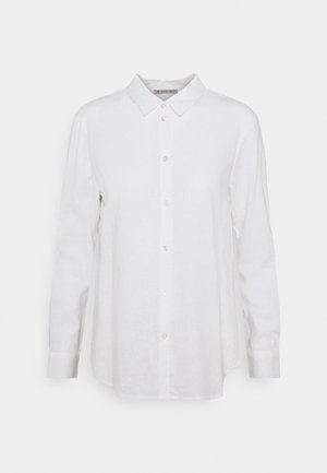 Linen Shirt - Button-down blouse - white